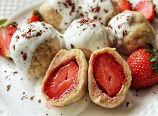 Knedle z truskawkami na diecie