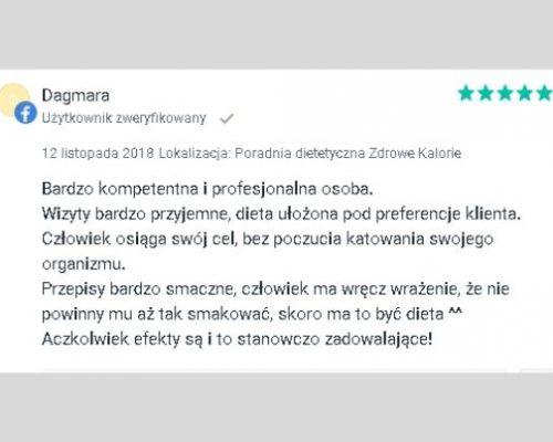 Opinie - dietetyk Kraków 3
