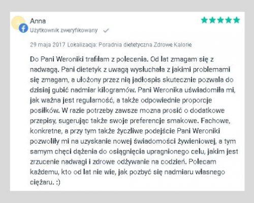 Opinie - dietetyk Kraków 4