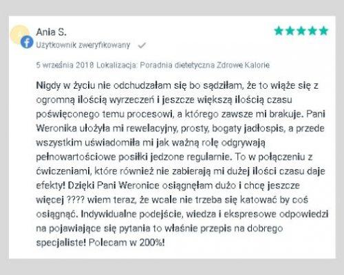 Opinie - dietetyk Kraków 5