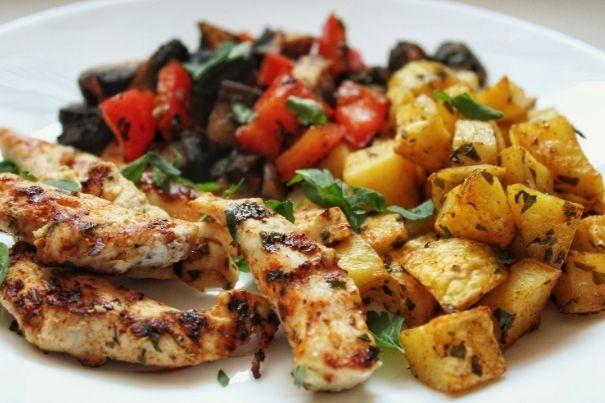 Pieczone ziemniaki na diecie