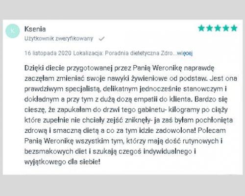 Opinie - psychodietetyk Kraków